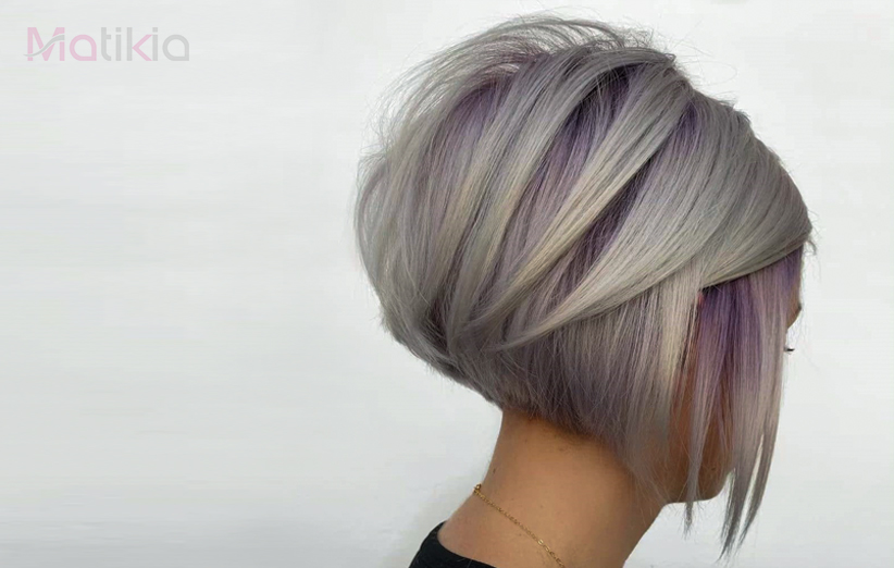 هیرکات دخترانه با رنگ موی متفاوت