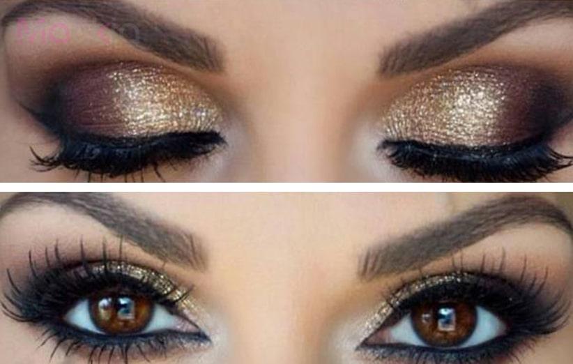 ترکیب سایه چشم قهوه ای
