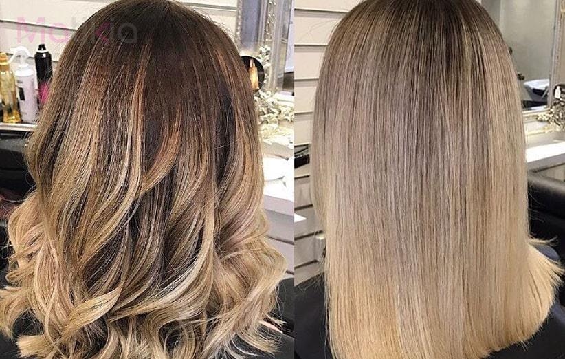 آموزش رنگ کردن مو به روش آمبره