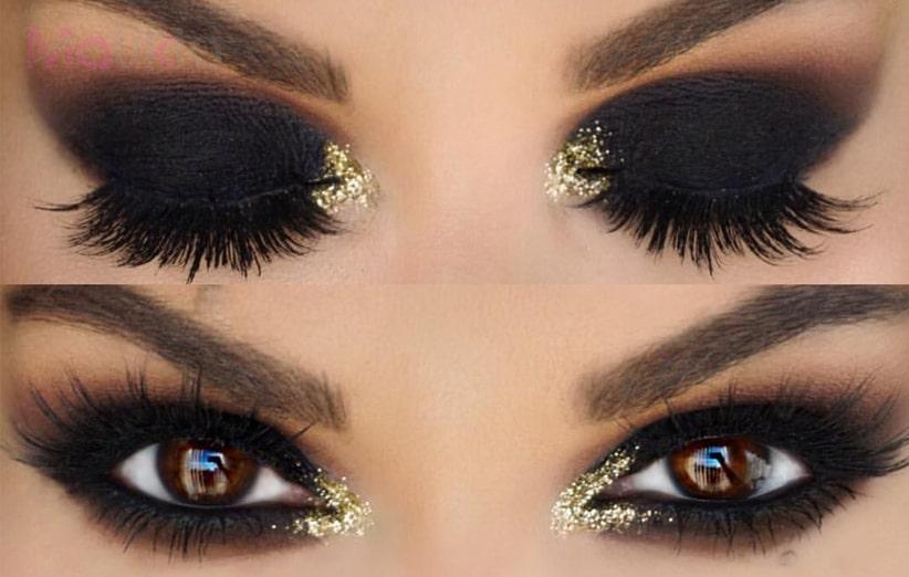 ارایش مخصوص چشم قهوه ای