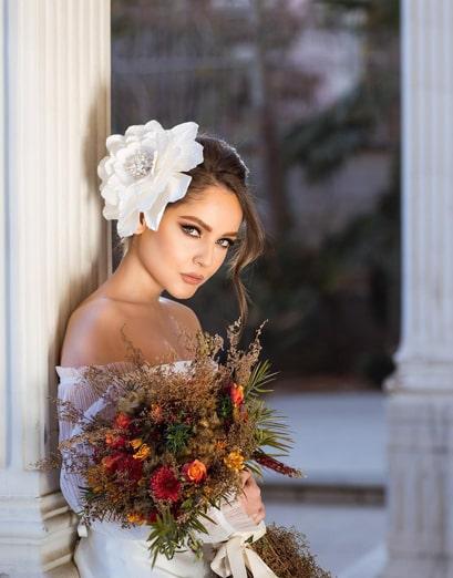 گریم عروس با اکسسوری