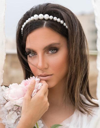 آرایش صورت عروس بدون شینیون با موی باز