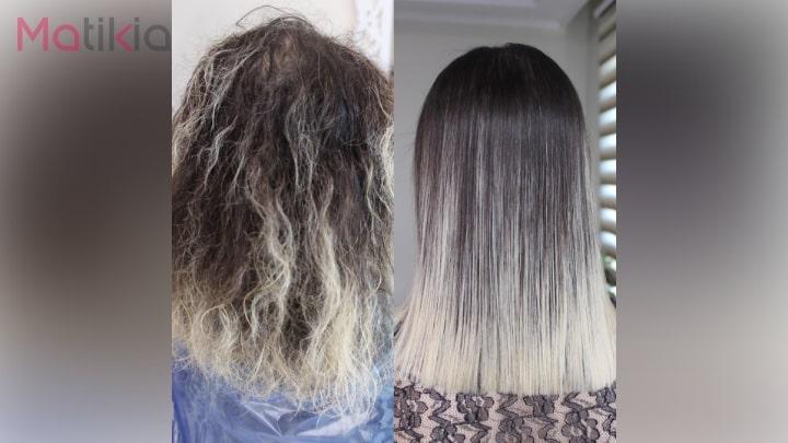 آموزش کراتین کردن مو